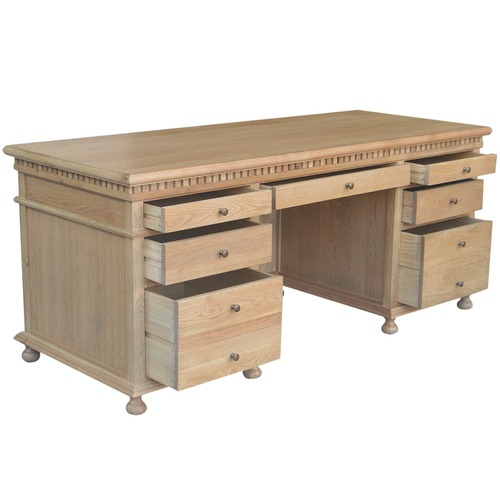 S & G Furniture St. James Classic Oak Desk