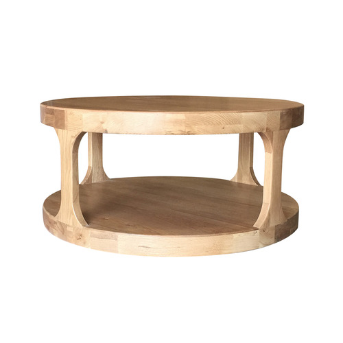 S & G Furniture Natural Franz Oak Wood Coffee Table