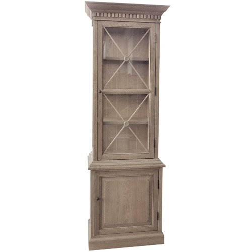 S & G Furniture French Wooden Display Cabinet
