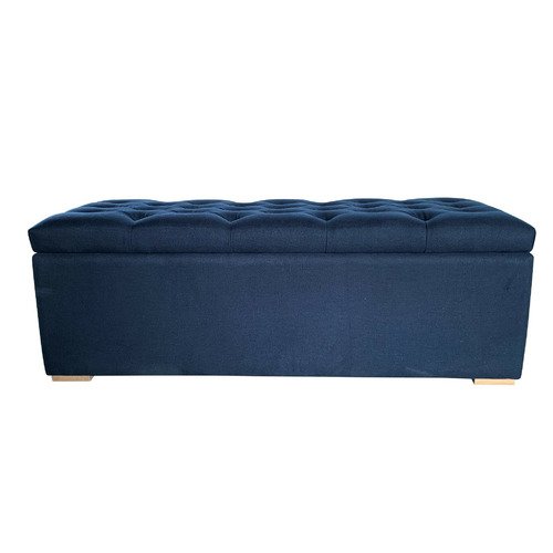 S & G Furniture Small Chelsea Linen Blanket Box