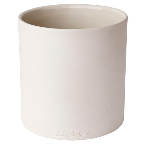 Zakkia White Genko Cylinder Ceramic Pot