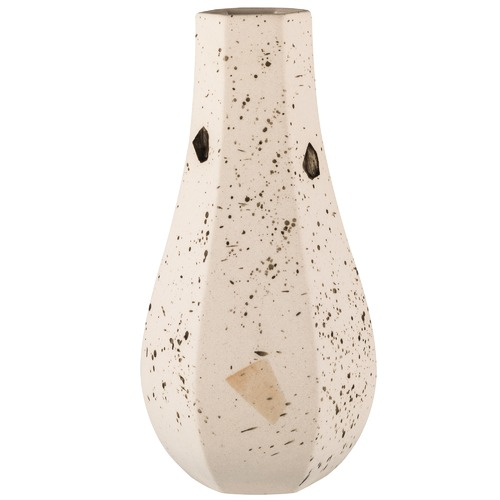 Curved Confetti Carved Vase