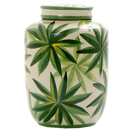 Florabelle Green Raphis Porcelain Ginger Jar
