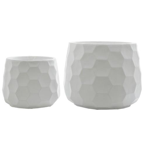 Florabelle 2 Piece Honeycomb Pot Set