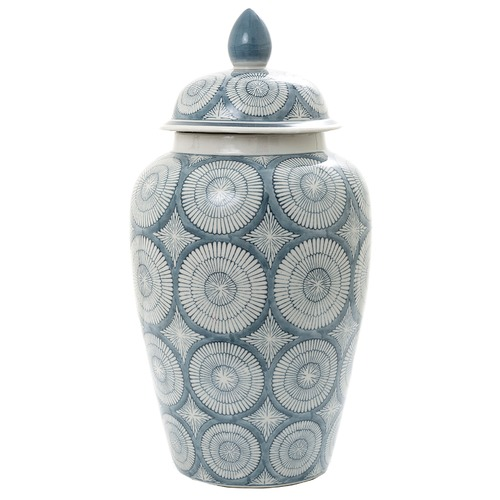 Florabelle Blue & White Joss Ceramic Jar