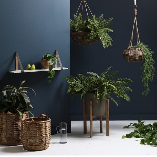 Florabelle Faux Rattan Adimu Hanging Planter