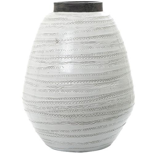 Florabelle White & Grey Shaka Ceramic Urn