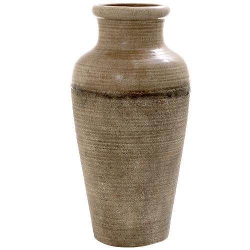 Florabelle Tall Brown Terra Ceramic Vase
