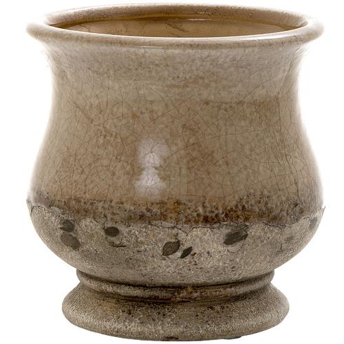 Florabelle 18cm Brown Terra Ceramic Pot