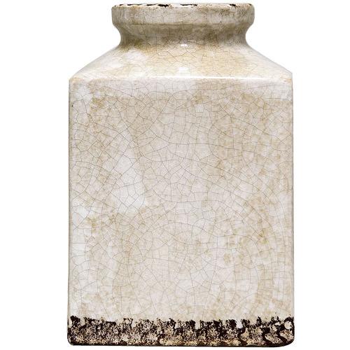 Florabelle Distressed Blanc Square Ceramic Vase