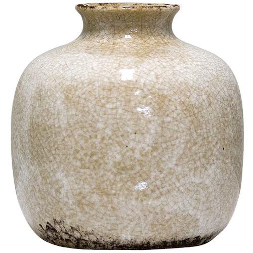 Florabelle Distressed White Blanc Ceramic Pot