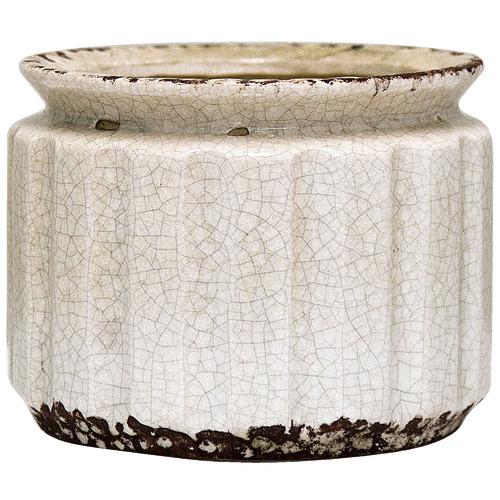 Florabelle Distressed White Blanc Ceramic Planter
