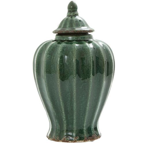 Florabelle Green Esmeralda Ceramic Jar