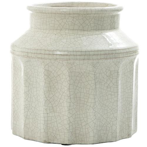 Florabelle White Vanilija Ceramic Pot