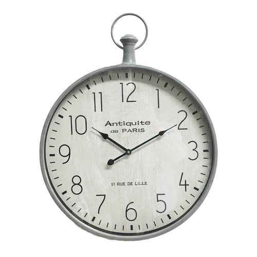 Florabelle 70cm Antique Silver Stanton Wall Clock