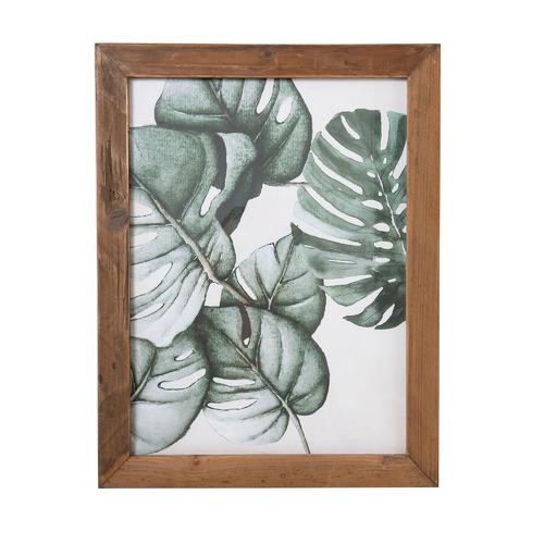 Florabelle Monsteria Leaf Framed Printed Wall Art