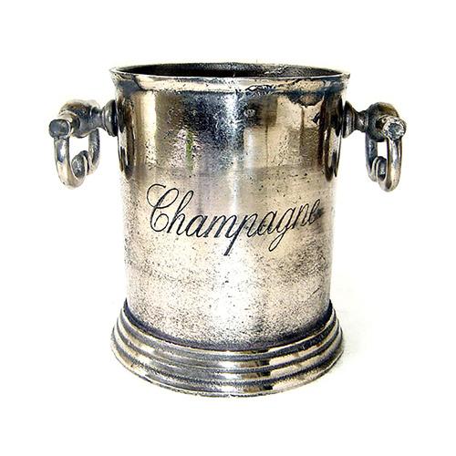 Florabelle Antique Silver Metal Decorative Wine Cooler