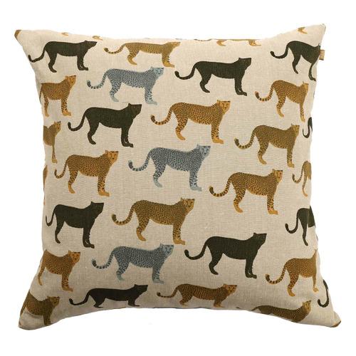 Cheetahs Gone Wild Recycled Cotton Cushion