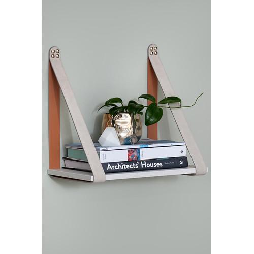 H and G designs Mushroom Suede Strap Shelf