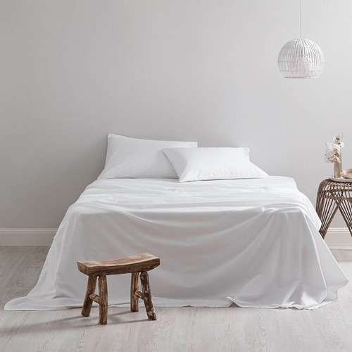Bed by Temple & Webster 300TC White Sheet Set