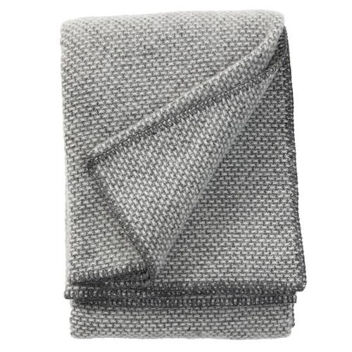 Klippan Domino Dark Grey 100% Wool Throw