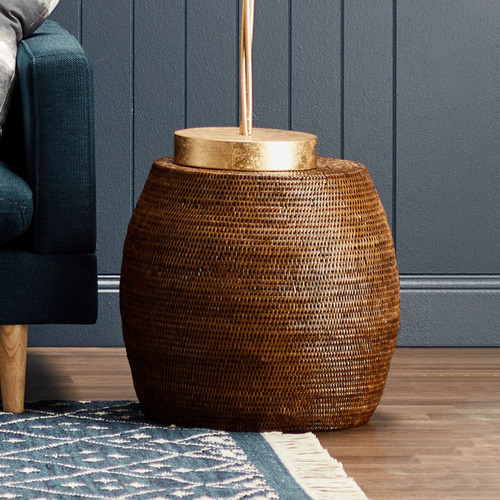 Capeview Interiors Rattan Drum Stool