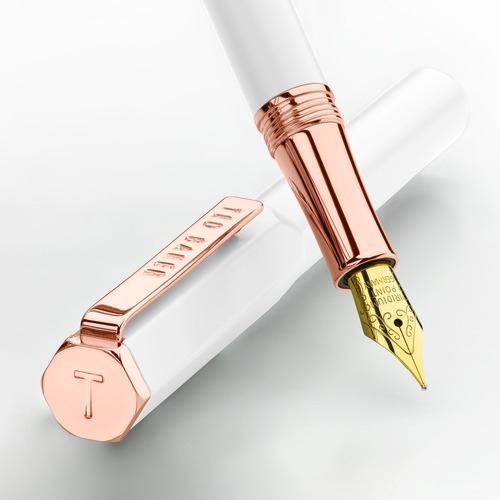 Ted Baker White Quartz Fountain Pen