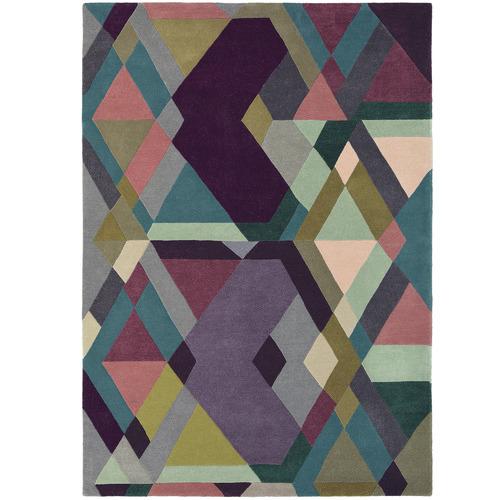 Ted Baker Purple Mosaic Hand-Tufted Wool & Viscose Rug