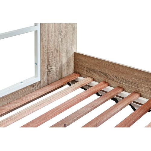 VIC Furniture Oak Grace Low Line Single Bunk Bed
