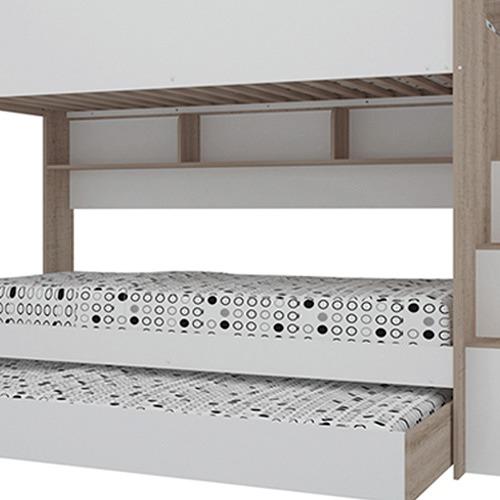 VIC Furniture Cruz Trio Single Bunk Bed & Shelves