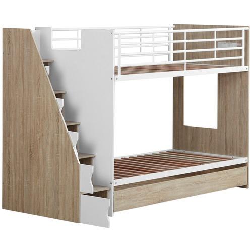 VIC Furniture Cruz Trio Single Bunk Bed & Cabinets