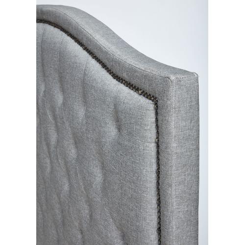 VIC Furniture Light Grey Luxury Aurora Queen Bed Frame