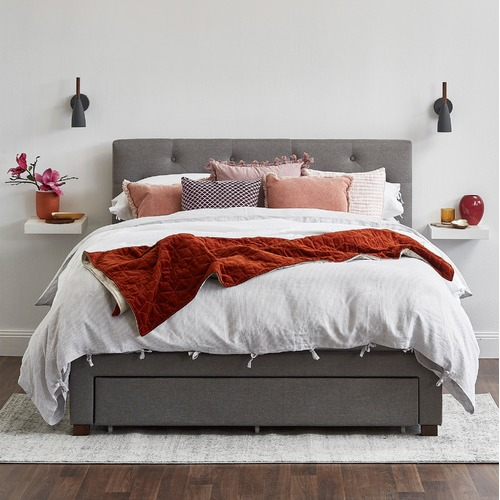VIC Furniture Kingston Queen Bed with Storage