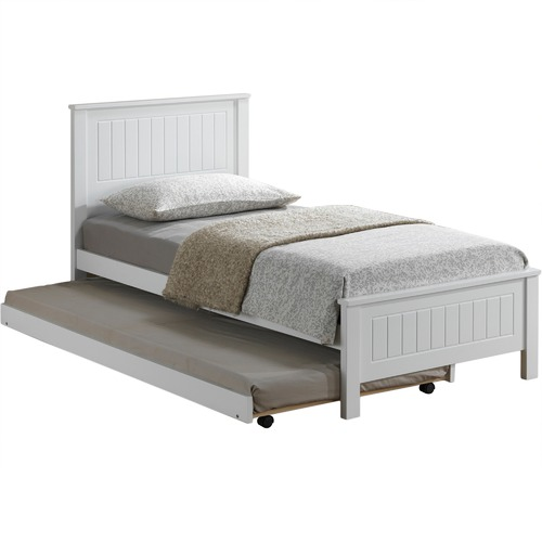 VIC Furniture Leo Single Bed with Trundle