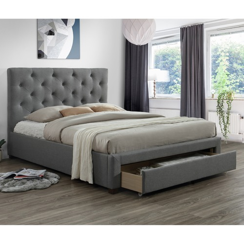 VIC Furniture Kingston Double Bed Frame with Drawer