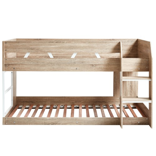 VIC Furniture Oak Grace Low Line Single Bunk Bed