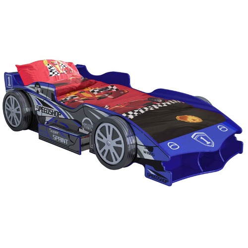 VIC Furniture Blue Speed Racing Single Bed