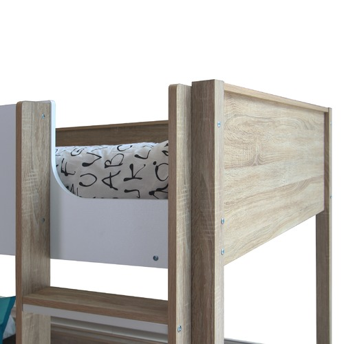 VIC Furniture Sonoma Oak Gisborne King Single Bunk Bed