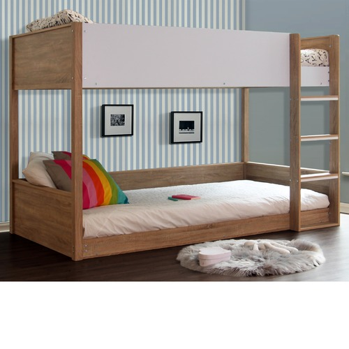 Sonoma Oak Gisborne Solid Wood King Single Bunk Bed