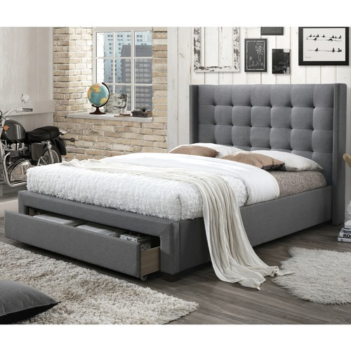 Queen Bed Frame With Storage.Atlanta Queen Bed With Storage