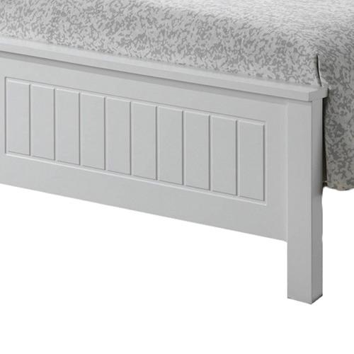 VIC Furniture White Leo Wooden Bed & Mattress