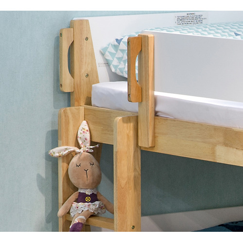 VIC Furniture White & Natural Galaxy Wooden Bunk Bed