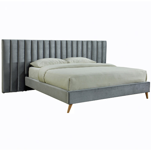 Aurora Velvet King Bed with Extendable Bedhead