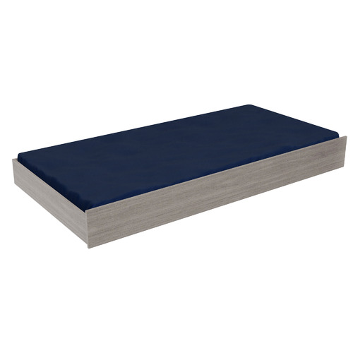 Light Grey & White Quentin Trundle Storage Bed