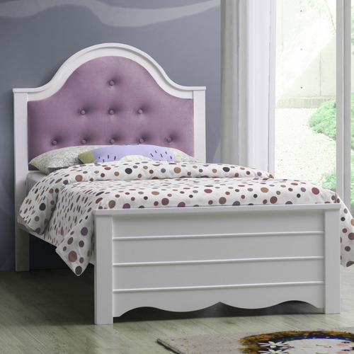 White & Lilac Jillian King Single Bed