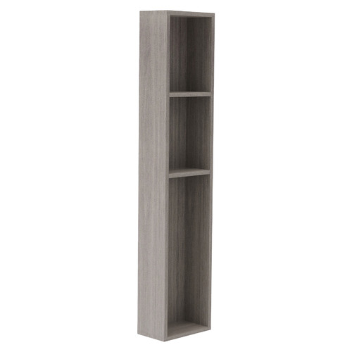 Light Grey & White Quentin King Single Storage Bed with Wall & Tower Bookcase