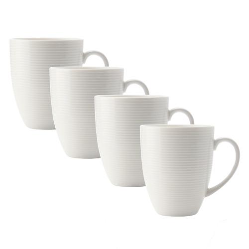 Casual White Evolve 340ml Coupe Mugs