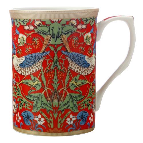 William Morris Strawberry Thief Red 300ml Porcelain Mug