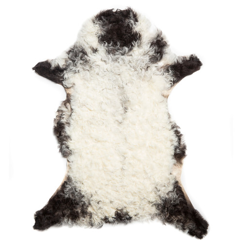 All Natural Hides and Sheepskins Black Curly Sheep Rug