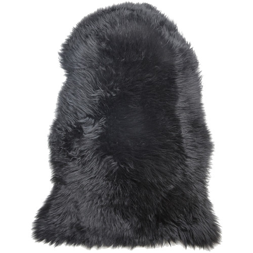 All Natural Hides and Sheepskins Noir Sheepskin Rug